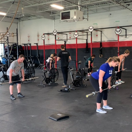 GROUP COACHING - We create the workout. From there, we alter this workout just slightly for all athletes, purely based on the goals of the athlete. This is not separate programs – it's simply modifications or variations of the workout with your goals and ability in mind.You'll get into classes as part of your intro-to-CrossFit month. That's how all of us start.Still have questions about classes? Learn more HERE.