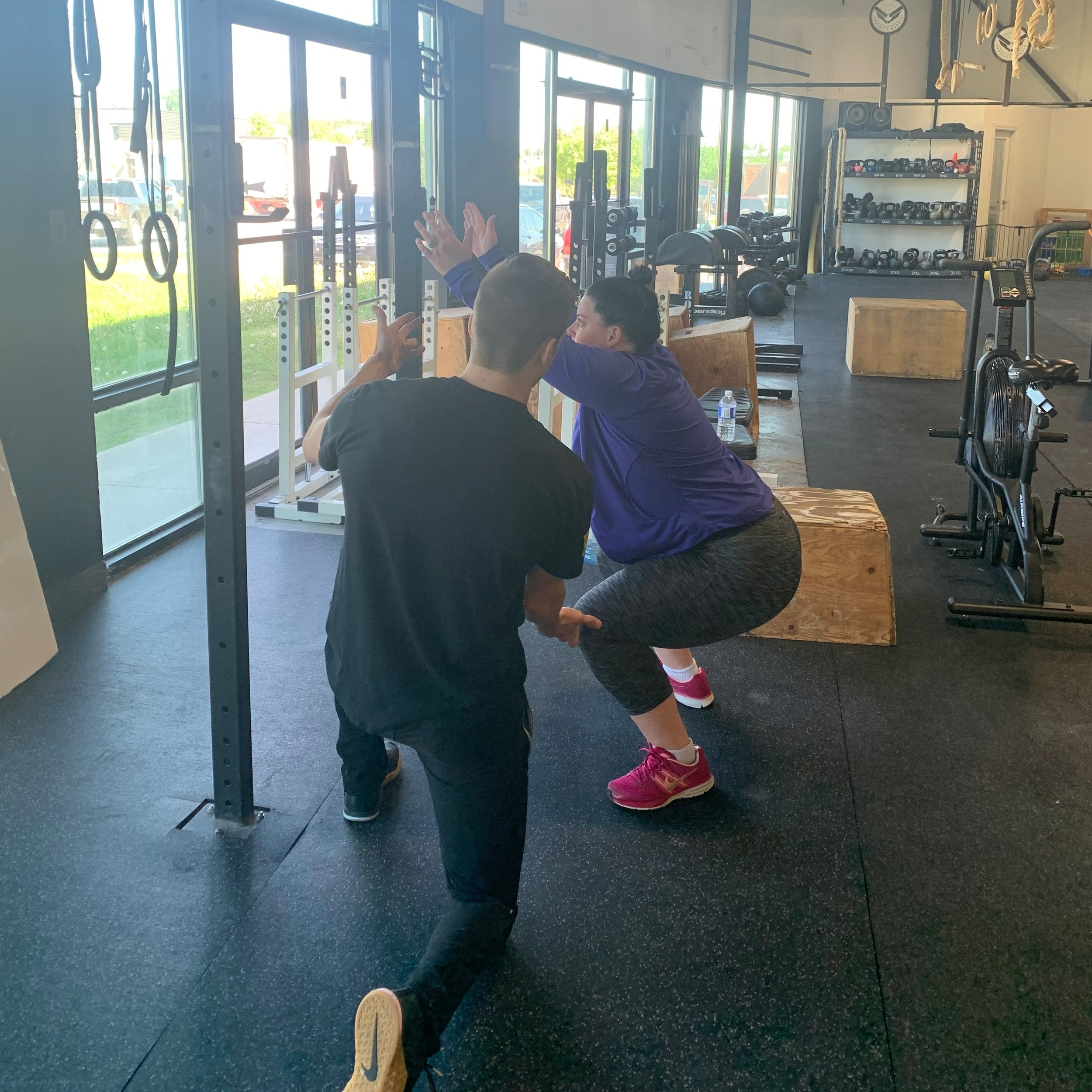 """Intro-to-Crossfit - This is a 30-day membership. A taster or """"aperitif"""" of sorts.It includes: 4 private coaching sessions, movement assessment, modification for classes (if applicable), and unlimited classes for time remaining (approx. 3 weeks)Register and find your coach below.30-days to try it out."""