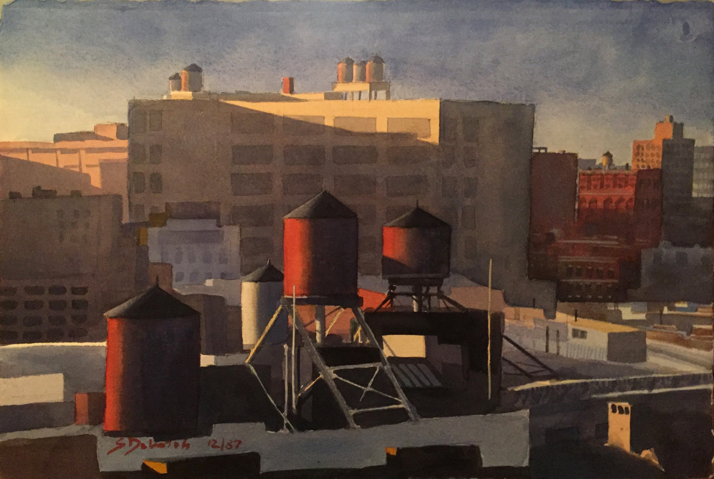 Water Tanks on Soho Rooftop, 1987