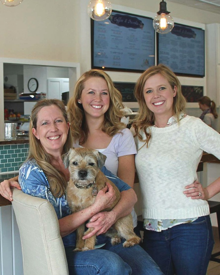 Pictured are owners Marilyn, Kelly & Rozy (and Otis the pup!)