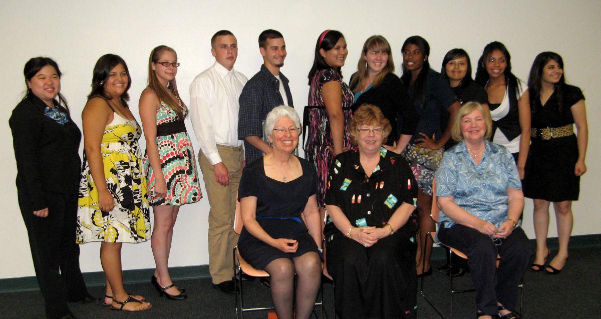Scholarship recipients & committee