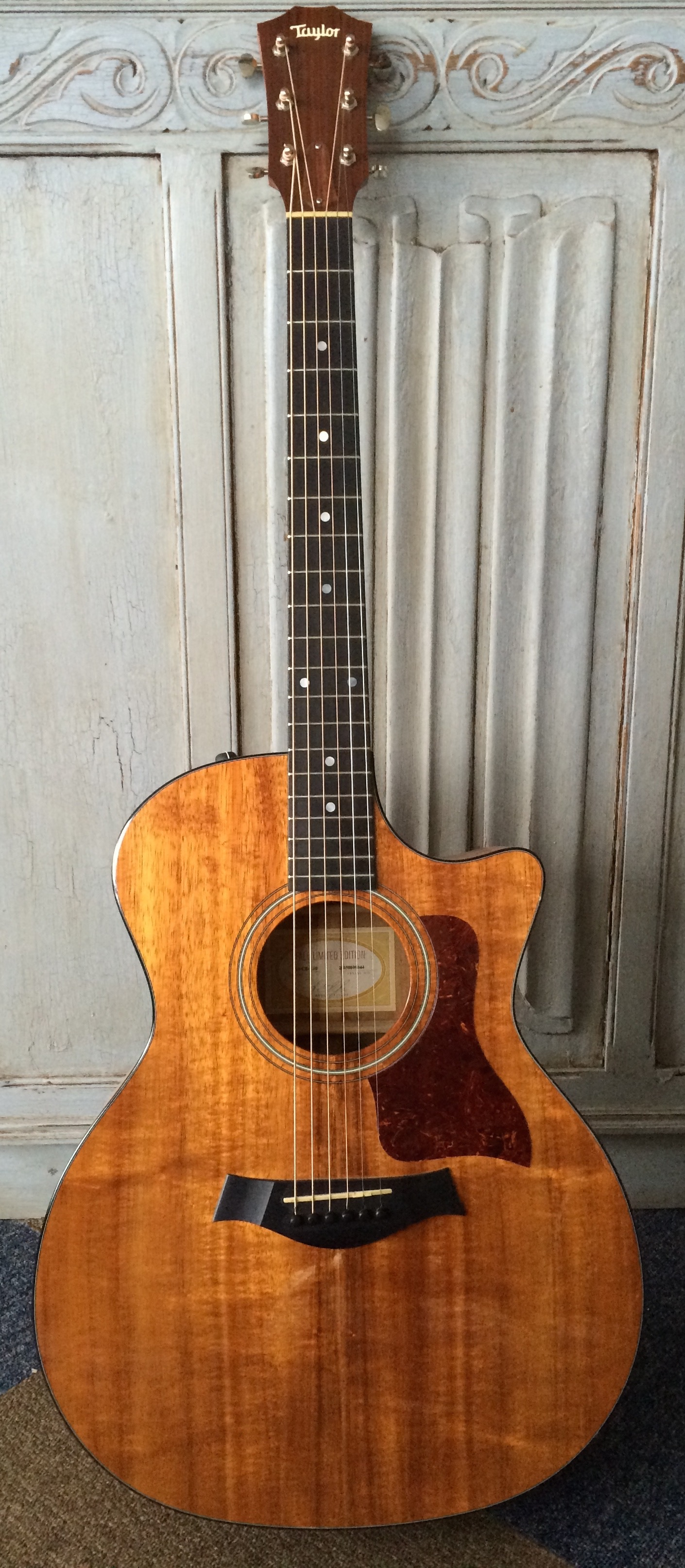 TAYLOR 324ce L10 - Nick's main guitar at the time of recording the album was a 2005 Taylor 324ce L10 (2005). This is a fall limited edition model in Grand Auditorium body shape with solid Koa front, back and sides with mahogany neck. Nick swapped the original sealed Gotoh tuners for Waverly's which are much lighter and improve the balance of the guitar, as the body is very light. They also look great.Over the last decade the guitar has matured beautifully and both Nick and A.J agree that this is one of the finest Taylor's either has played, despite being a comparatively low on bling 3 series. With a clear and defined tone across the entire scale length it is especially impressive within a band environment.It is also fitted with Taylor's Expression System pickup, however Nick likes to keep the batteries out unless at a plugged in gig, as he finds the the extra weight effects the response of such a lightweight guitar.
