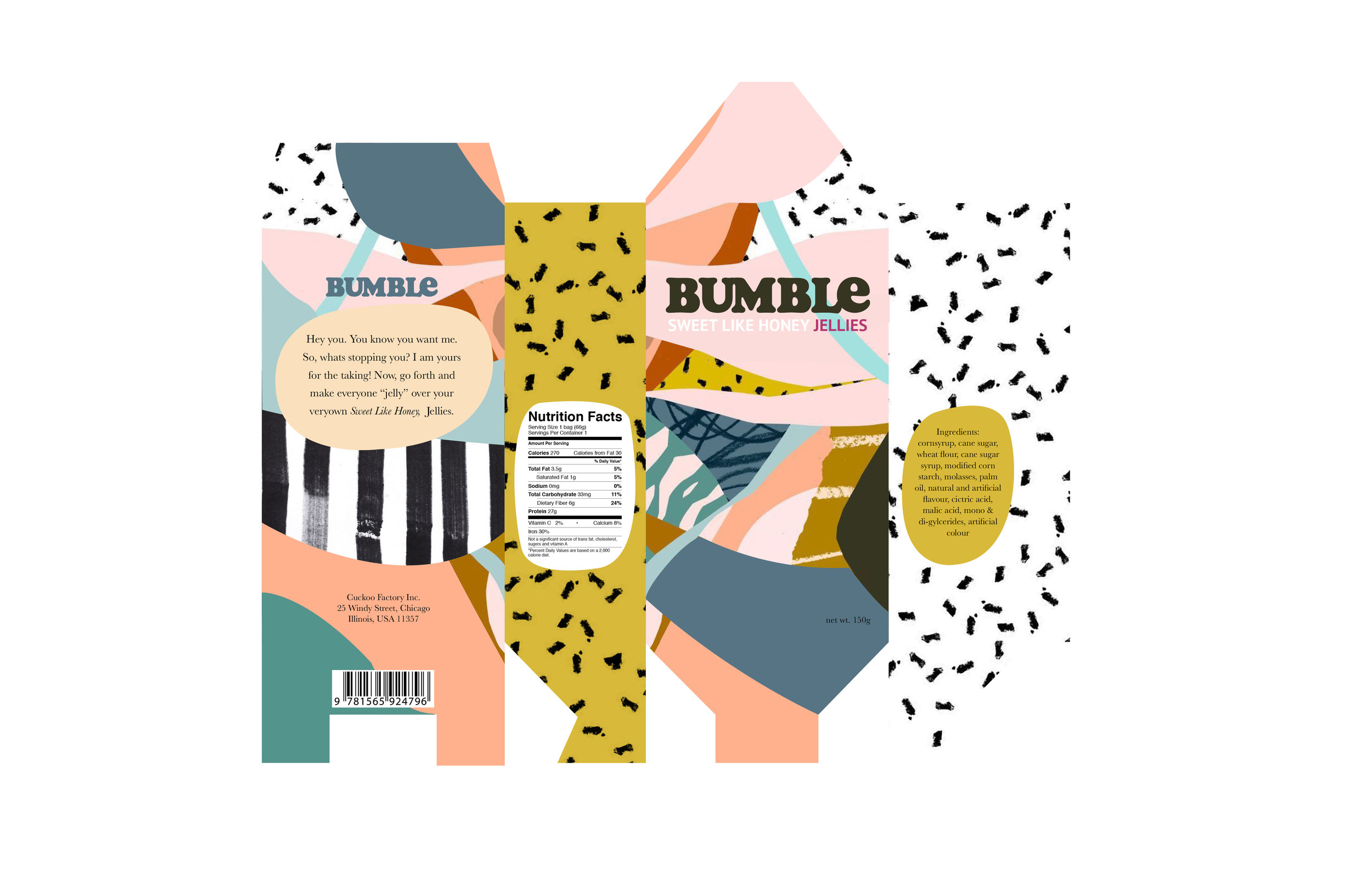 Bumble: Candy Packaging Design Layout