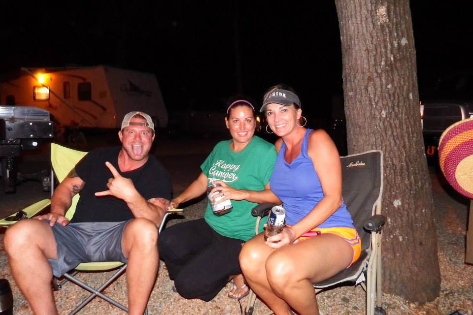 Enjoying a relaxing night at Tall Pines Campground.