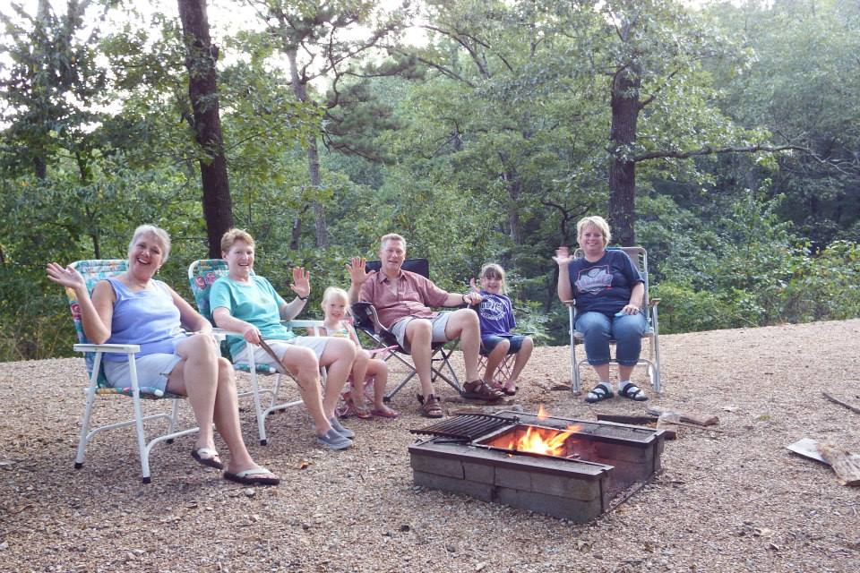 Fire pit at Tall Pines Campground.