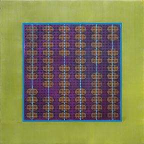 Abacus: It Doesn't Count  encaustic on panel 12 x 12 inches 2009