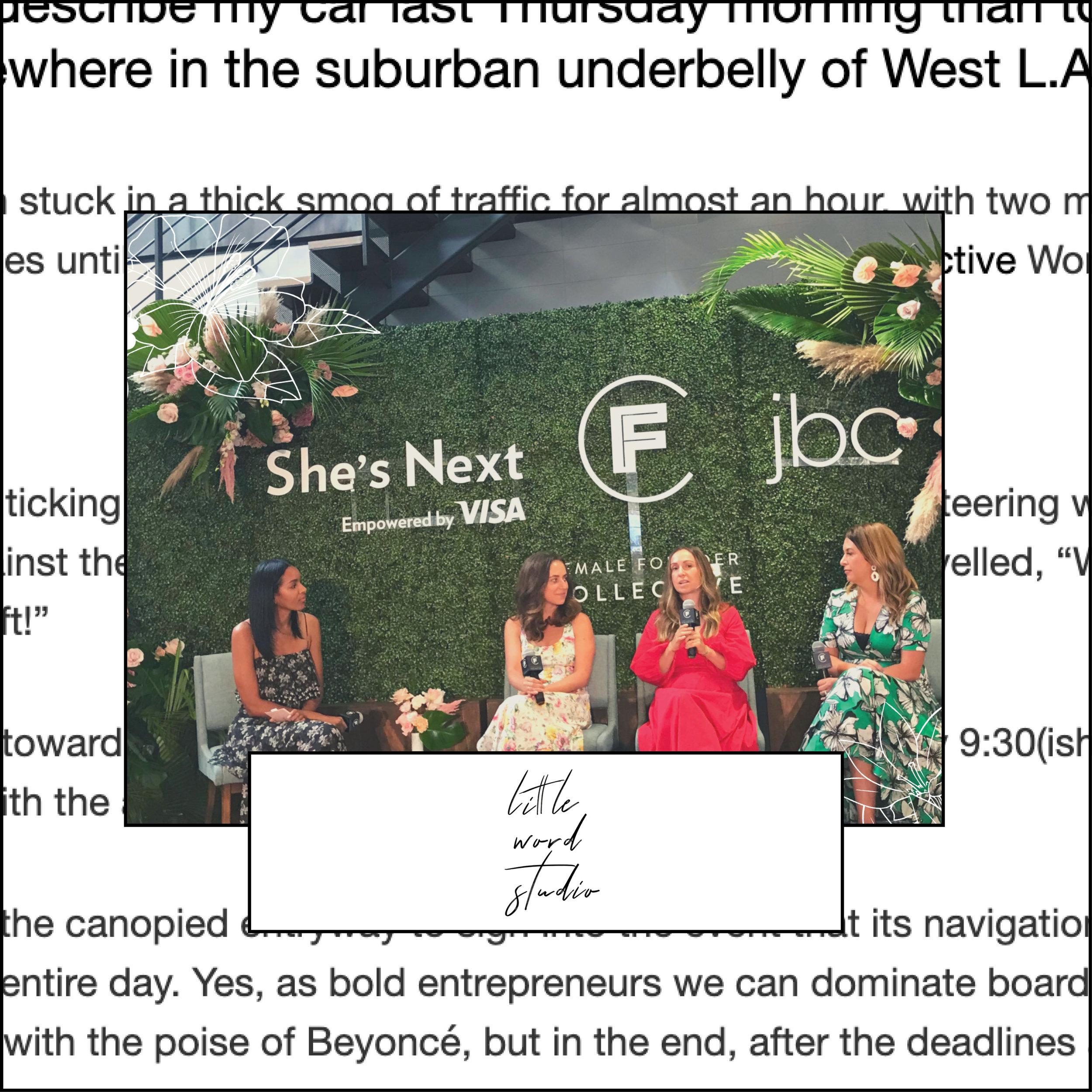 Little WInside The Female Founder Collective LA Workshop