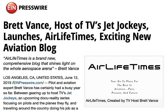Hey Everyone — Ramping up the buzz in anticipation of imminent filming, we have launched a fantastic new aviation blog, arguably the most comprehensive of its kind on the web. Our celebrity publicist, Michael Levine, just put out a great press release this week and already our traffic has nearly doubled!  Check out www.AirLifeTimes.com. Space...History...Military Marvels...Women in Aviation...there are categories for everyone!  And yes — you can contribute!! #JetJockeys #aviationlovers #womenaviators #pilotgirlsworld #avgeek #tvshow #tvhost #flighttest #testpilot #pilottraining #flightcrew #fighterjet #pilotsofinstagram #SocietyofExperimentalTestPilots  @SpaceX @Embraer @VirginGalactic @NASA @Boeing @diamondaircraft @lockheedmartin @northropgrumman @gulfstreamaero @bellhelicopters