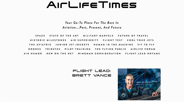 Hey Everyone - I am stoked to announce some serious traction building with the new blog - AirLifeTimes!  It's only been a week since we issued the global press release, and already we're getting hits from enthusiasts in nine countries.  Thanks a ton for your support.  There is so much to see and so much we'll be able to tell the world about the aerospace life. Be sure to visit www.AirLifeTimes.com yourself and tell your friends!  And yes - you can contribute...what a great way to get your ideas out to the whole planet!  #JetJockeys #aviationlovers #womenaviators #pilotgirlsworld #avgeek #tvhost #tvshow #testpilot #flighttest #pilottraining #flightcrew #fighterjet #fighterpilot #pilotsofinstagram  @SpaceX @embraer @virgingalactic @NASA @boeing @diamondaircraft @lockheedmartin @northropgrumman @gulfstreamaero @bellflight