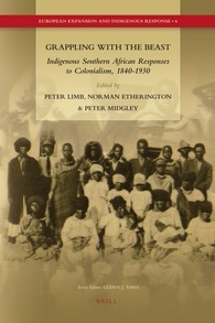 "Grappling with the Beast: Indigenous Southern African Responses to Colonialism, 1840-1930 - January 2010xiv, 378 pp. 4 maps | ISBN 978-90-47-44112-0This volume contributes rich, new material to provide insights into indigenous responses to the colonial empires of Great Britain (South Africa, Swaziland, Botswana, Zimbabwe (Rhodesia)) and Germany (Namibia) and explore the complex intellectual, cultural, literary, and political borders and identities that emerged across these spaces. Contributors include distinguished global scholars in the field as well as exciting young scholars. The essays link global-national-local forces in history by analysing how indigenous elites not only interacted with colonial empires to absorb, adapt and re-cast new ideas, forms of discourse, and social formations, but also networked with ""ordinary"" people to forge new social, ethnic, and political identities and viable social forces. Translated and other primary texts in appendices add to the insights."