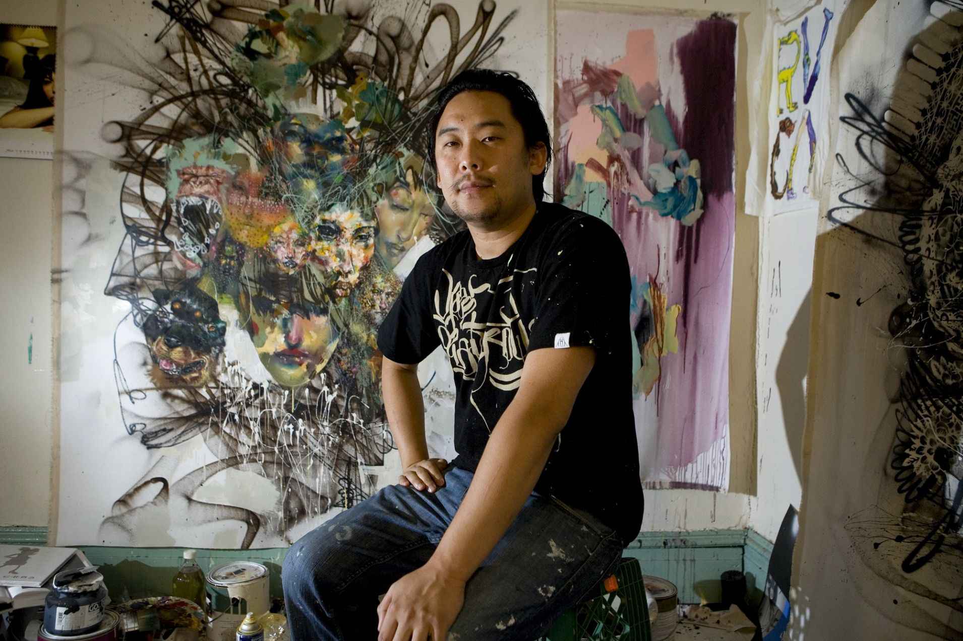 Heard of David Choe? - In 2005, internet entrepreneur Sean Parker, a longtime fan of David asked him to paint murals in the interior of Facebook's first office, and in 2007, Mark Zuckerberg commissioned him to paint more for their next office. Although he thought the Facebook business model was
