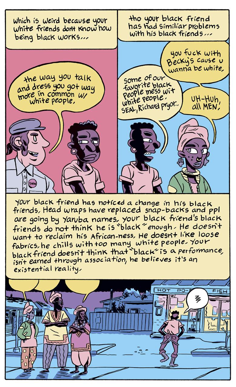 Excerpt from Ben Passmore's Your Black Friend, Silver Sprocket, 2016.
