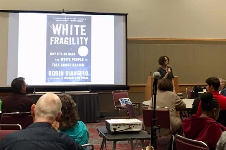 White Fragility  seminar led by Robin DiAngelo, PhD., NCORE Conference, 2019.