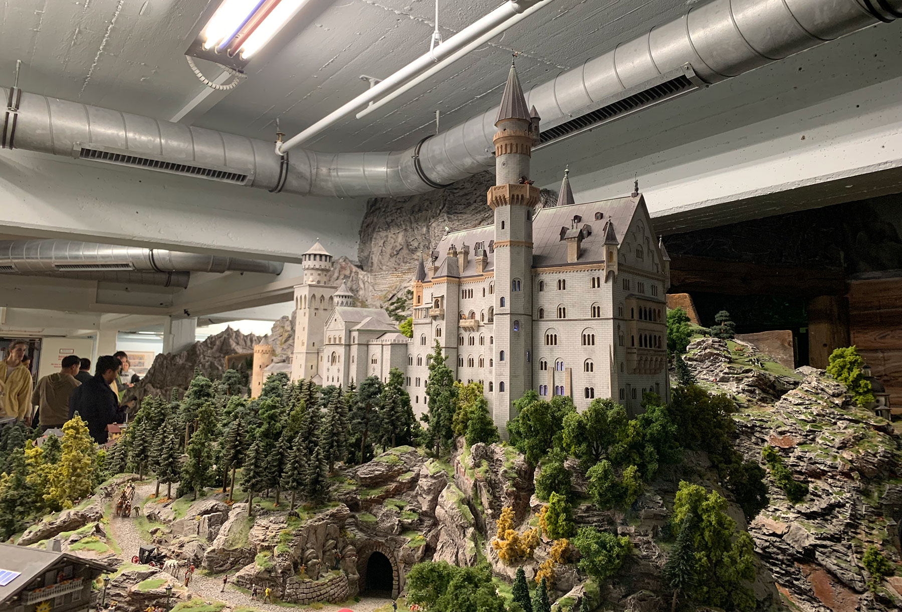 NOTE: This is a pic I took at Miniatur World of the Neuschwanstein Castle. I preferred this image since it the angle shows its similarity to Disney's castles…