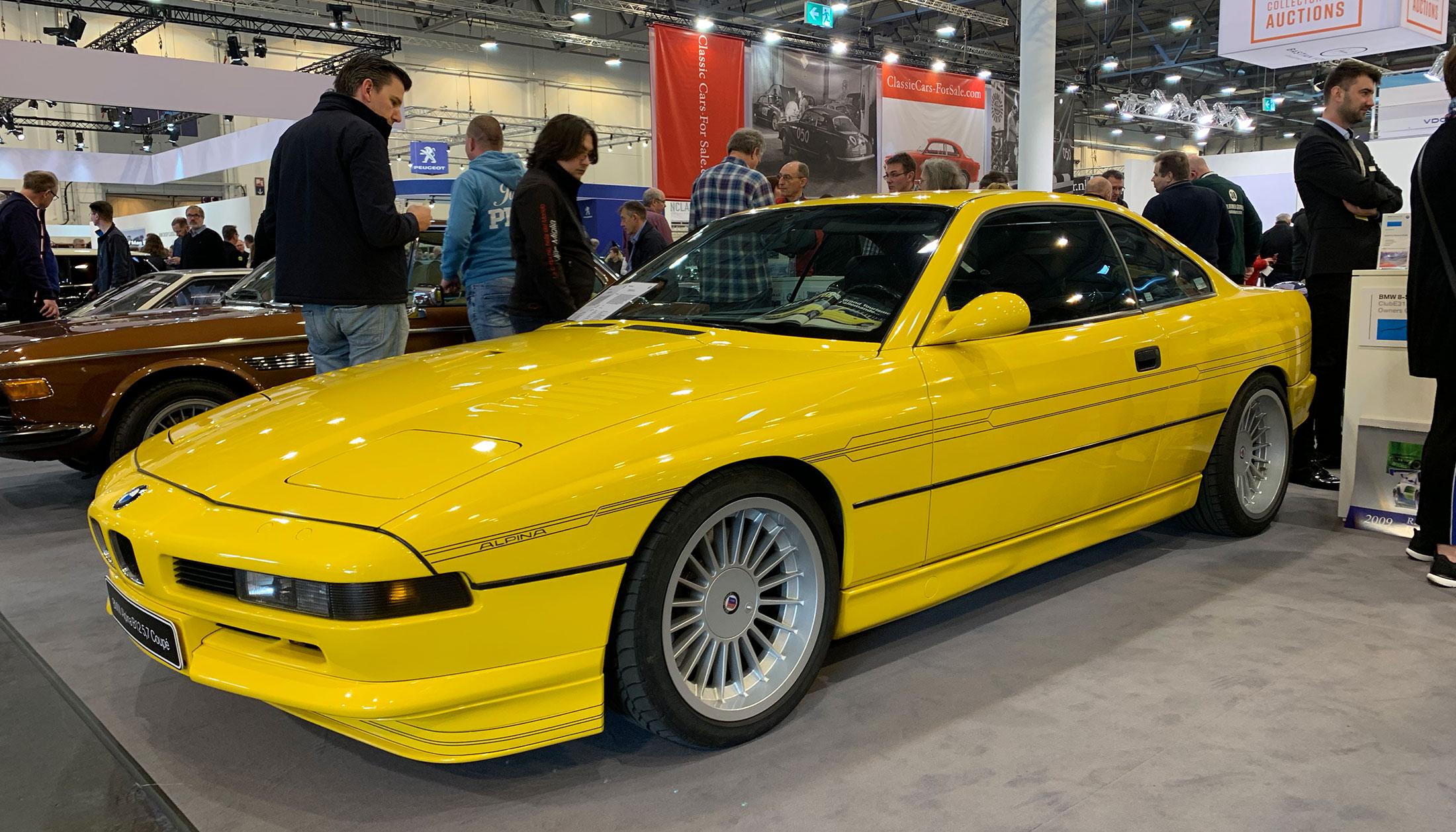 Another clean example of an Alpina B12 / based off the 850csi. Never see these in yellow. Well, never see these either LOL.