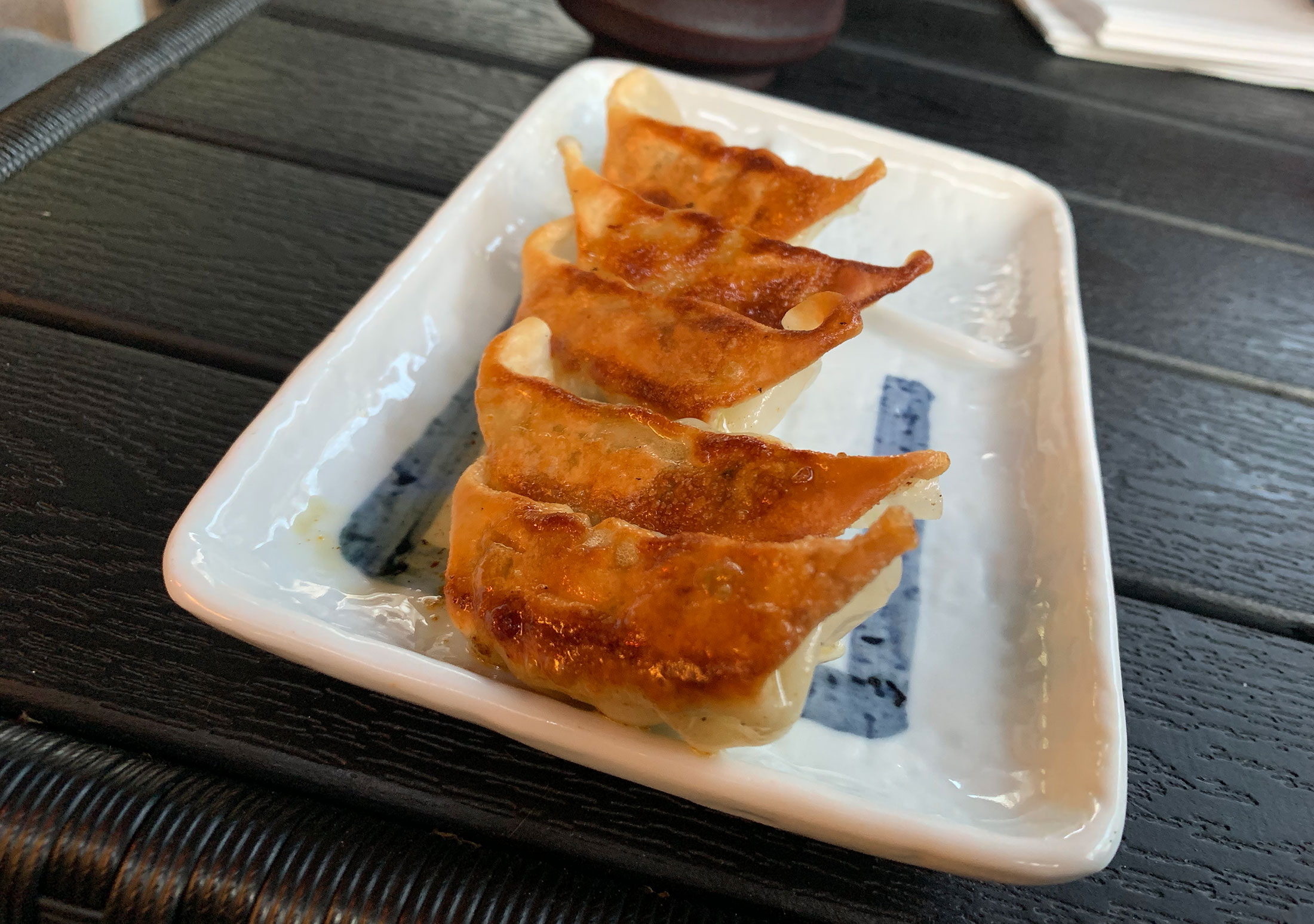 Side of gyoza - Potstickers…not sure what was in them, but it was good.