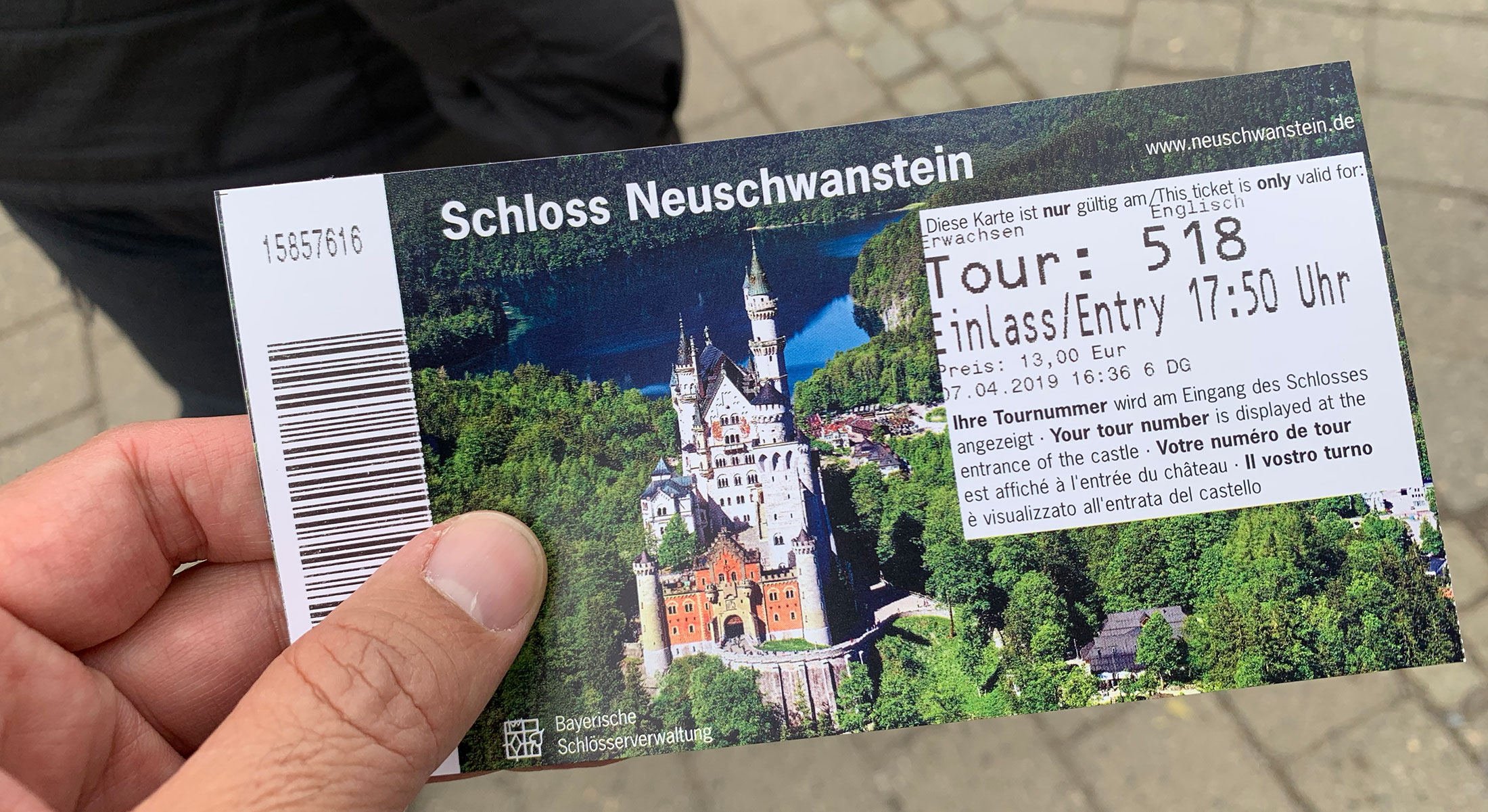 A 13Euro ticket gives you access to the castle and a scheduled guided tour