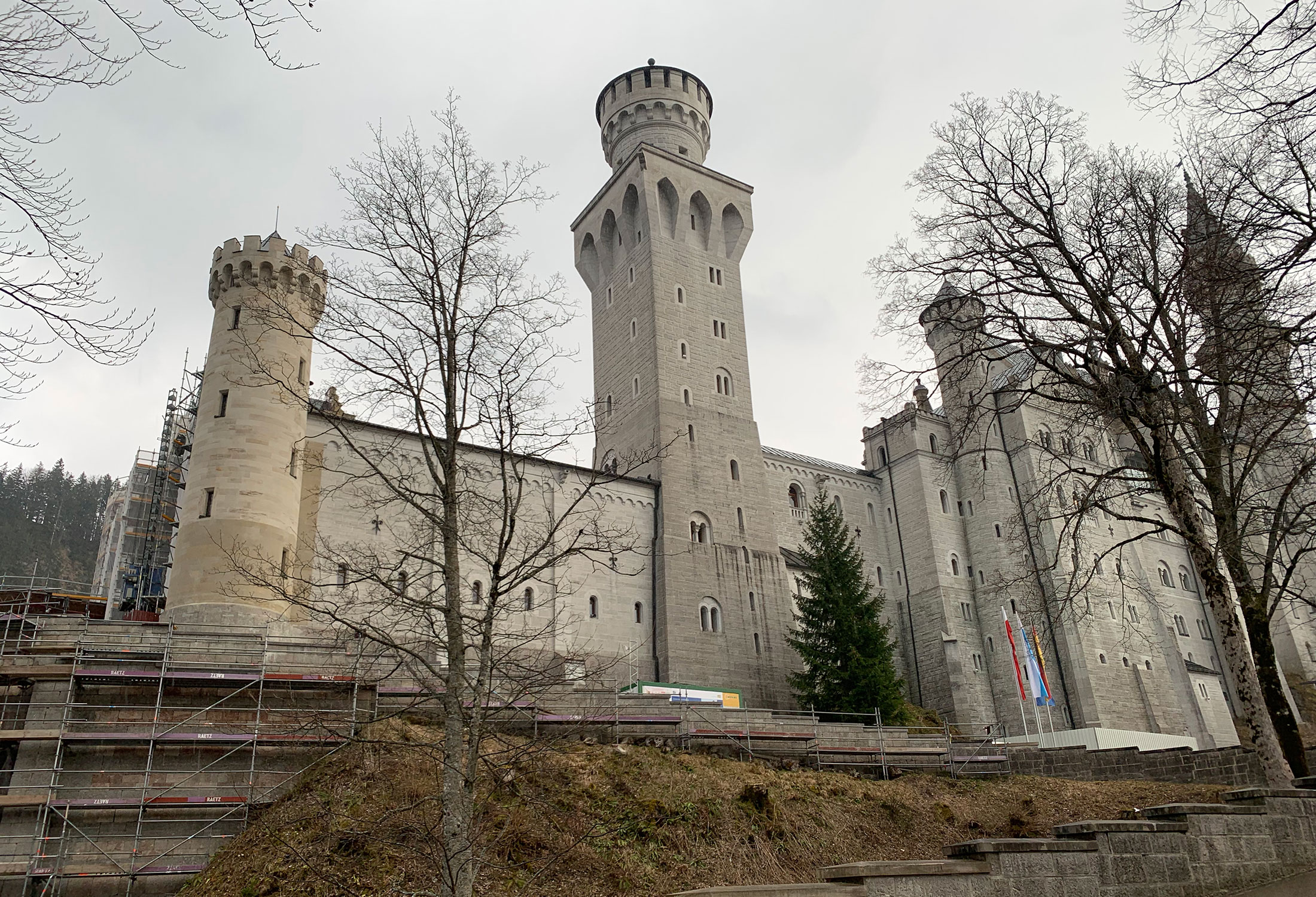 They're constantly restoring portions of the castle and its surroundings.
