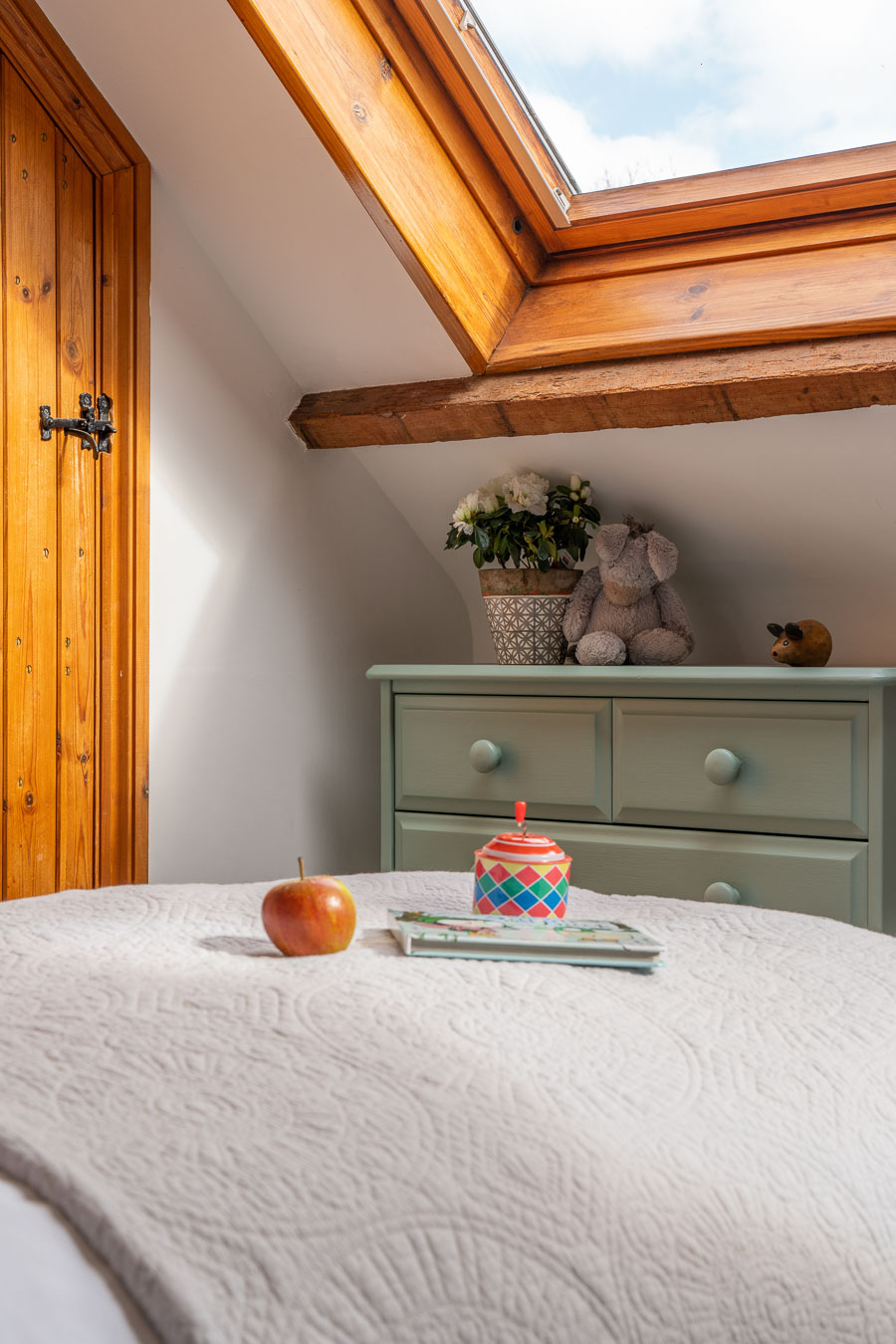 Detail of the children room and twin room in Mangers Cottage Flear Farm.