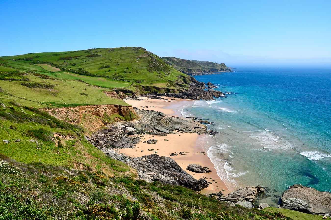 Gara Rock Beach, also known as Seacombe Sands, Devon.