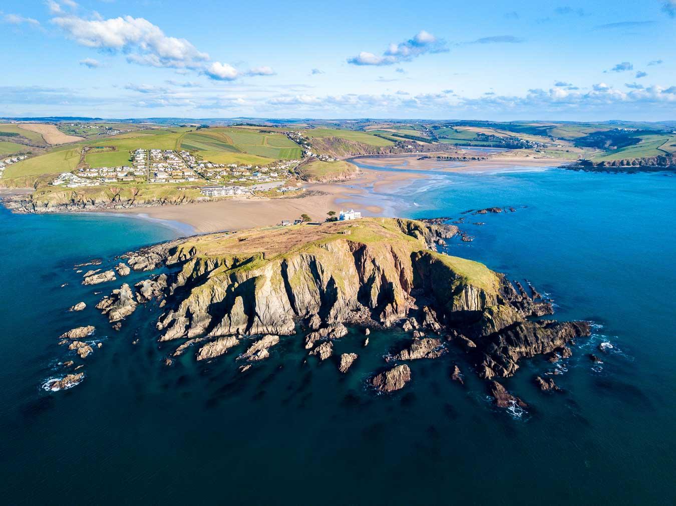 Burgh Island and Bigbury-on-Sea. Devon.