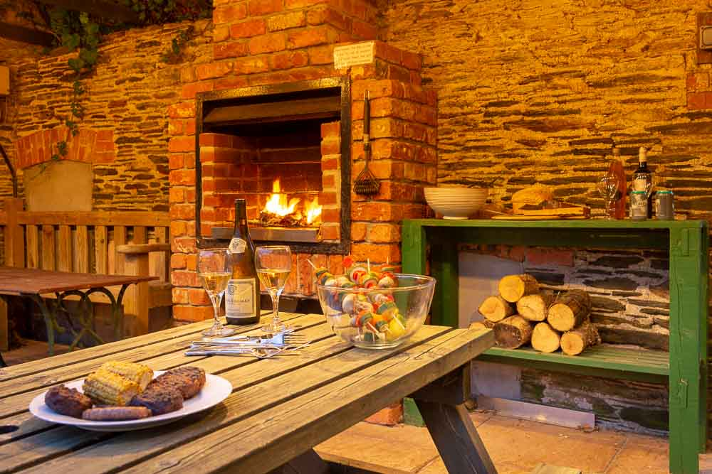 Flear Farm Cottages Communal BBQ Area is great for family get togethers and a delightful place to get to know your fellow guests on a warm summer evening