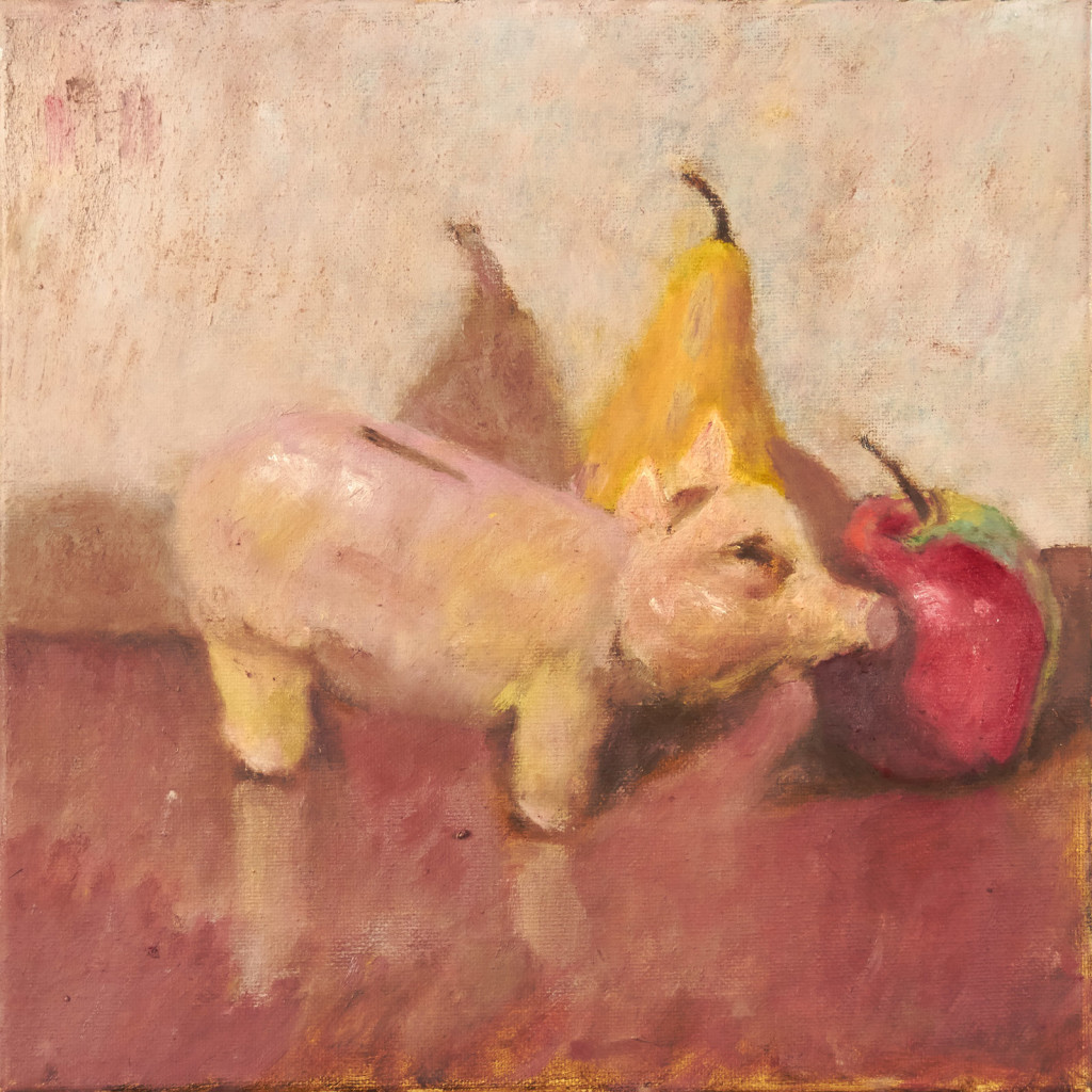 Piggy Bank and Fruit