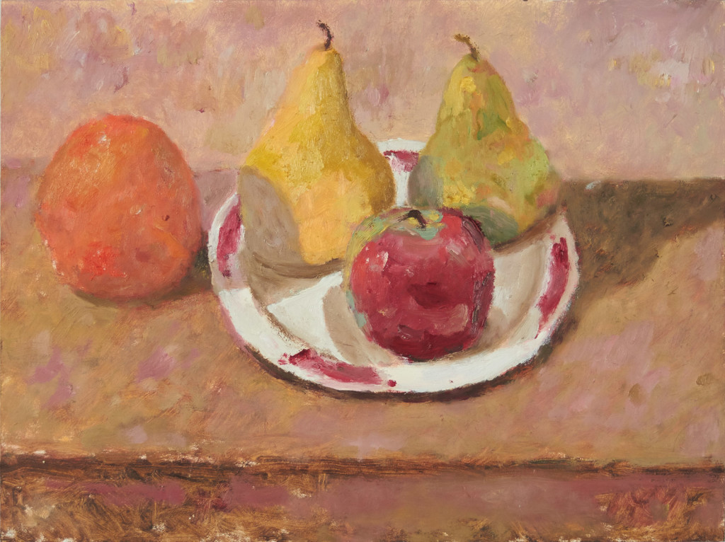 Plate with Fruit and Orange