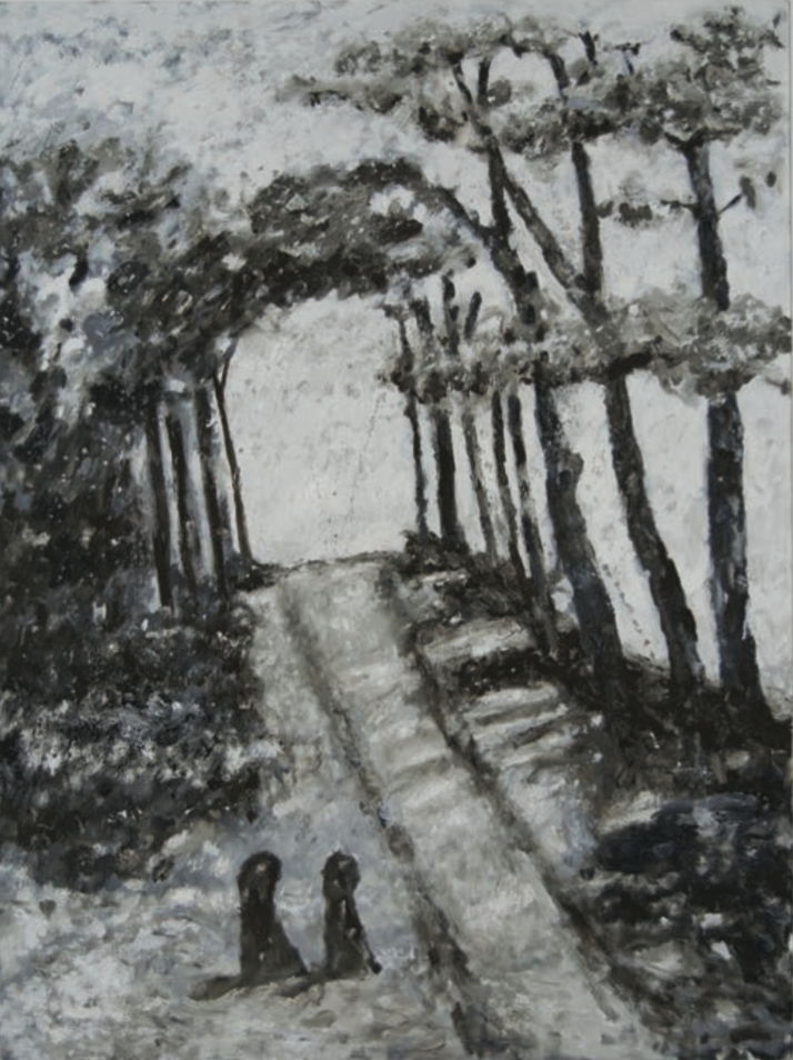 Path with Figures and Trees