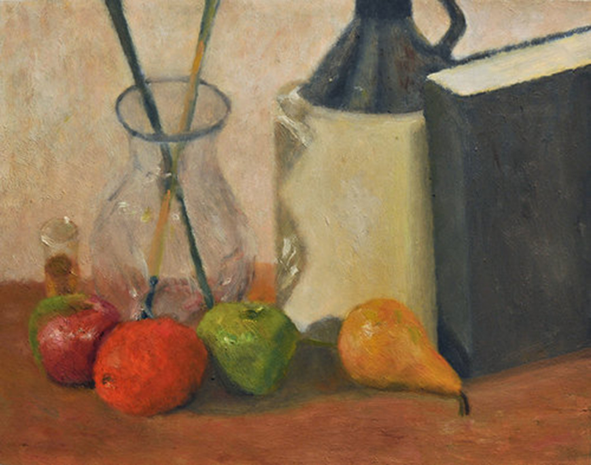 Fruit, Jug, Book, Vase and Glass
