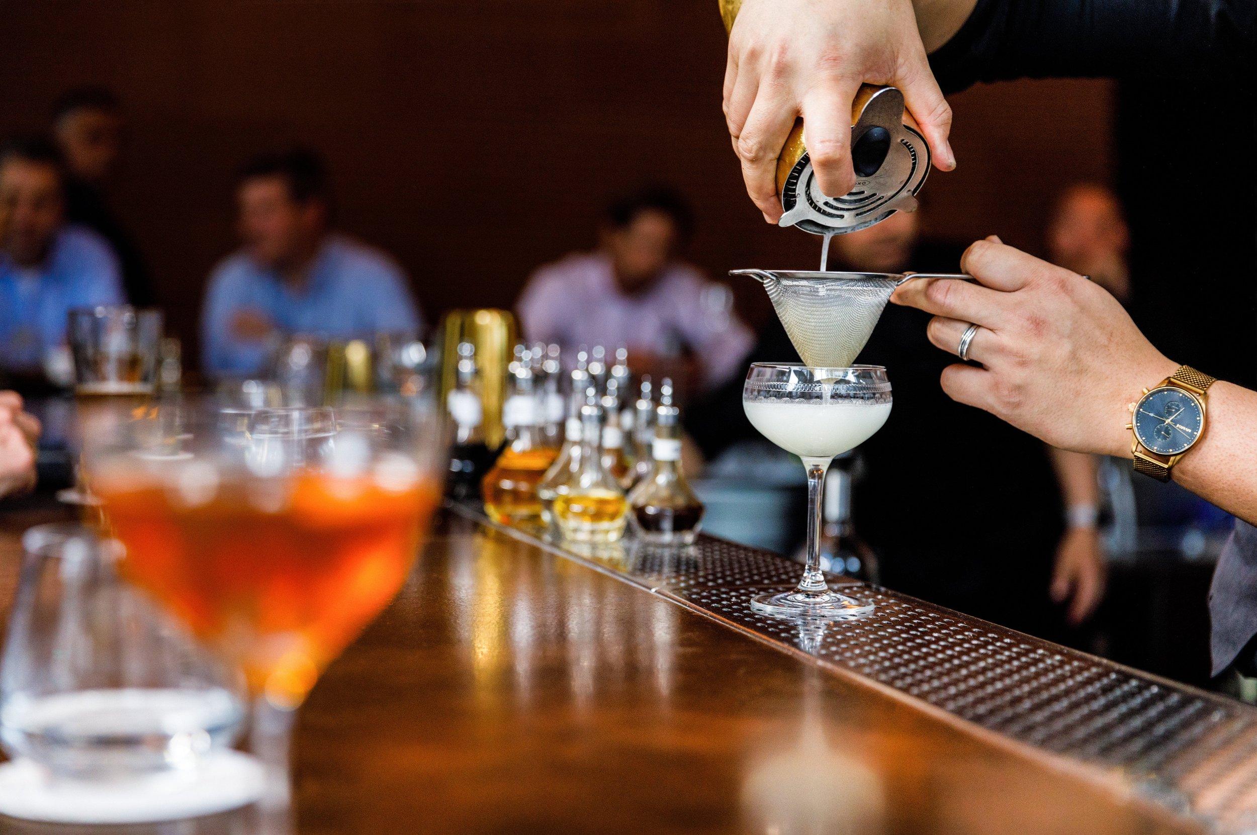 Bourbon,  Luxardo Maraschino Liqueur , Bitters