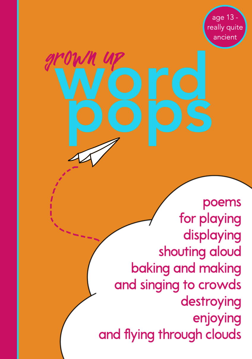 grown up word pops poetry book cover