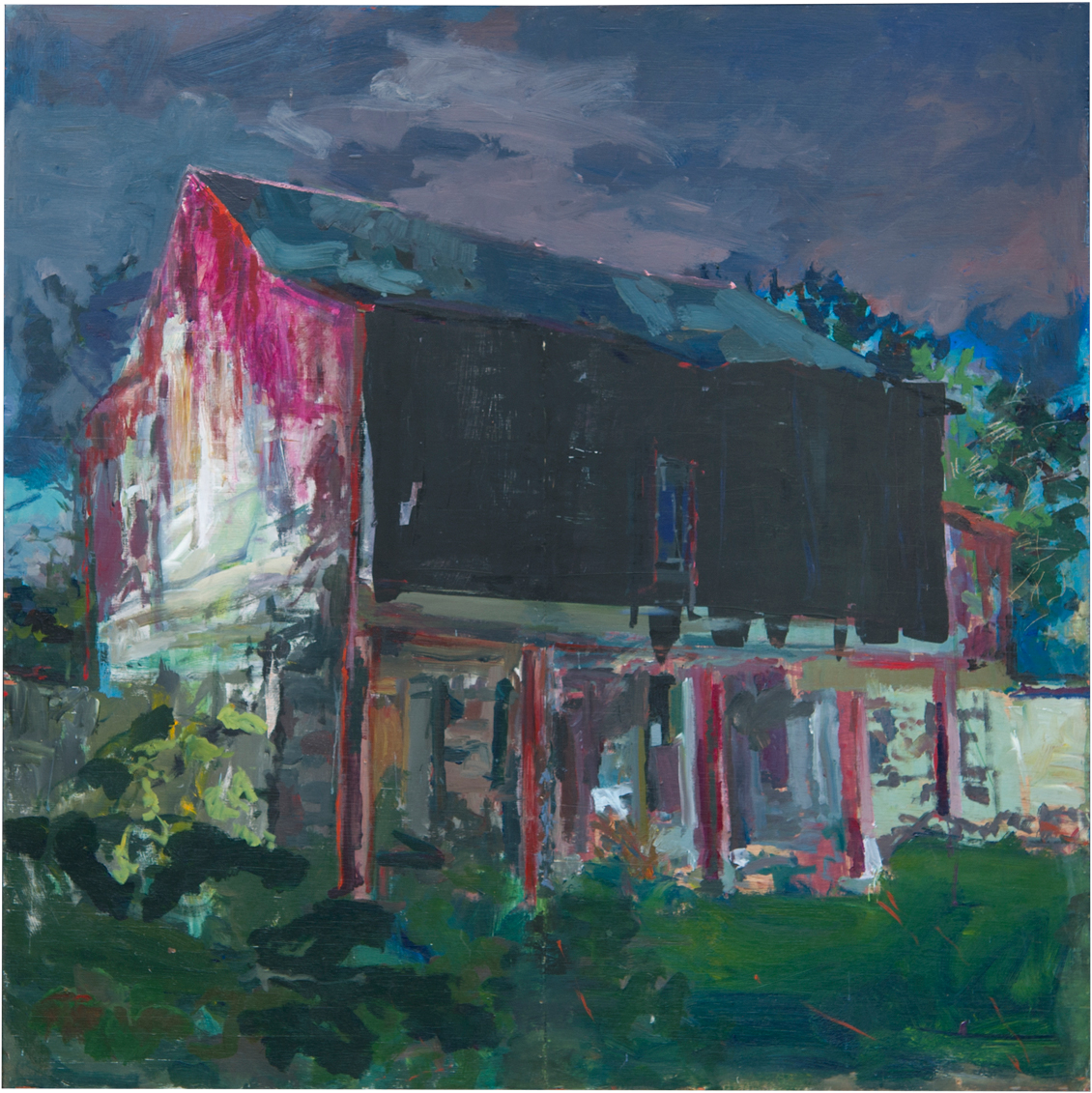 "The Red Barn Acrylic on Panel  48"" x 48"""