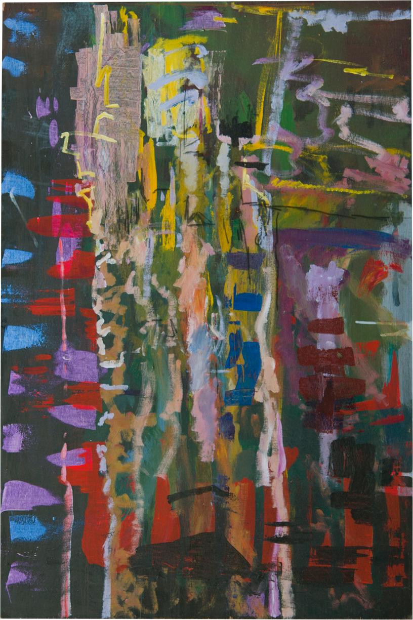 "Column Acrylic on Panel 72"" x 48"""