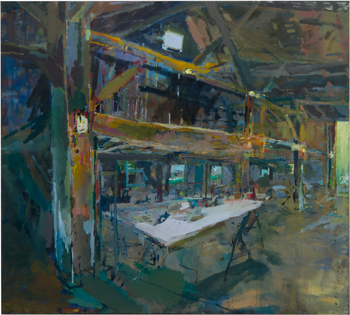"Painting Table Acrylic on Canvas 72"" x 80"""
