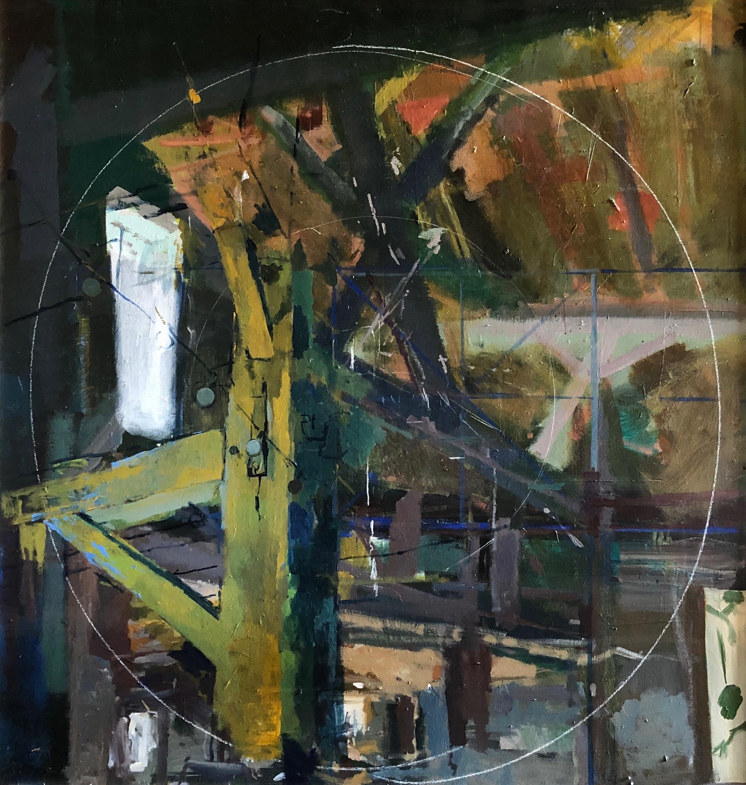 "Untitled Acrylic on Canvas 76"" x 72"""