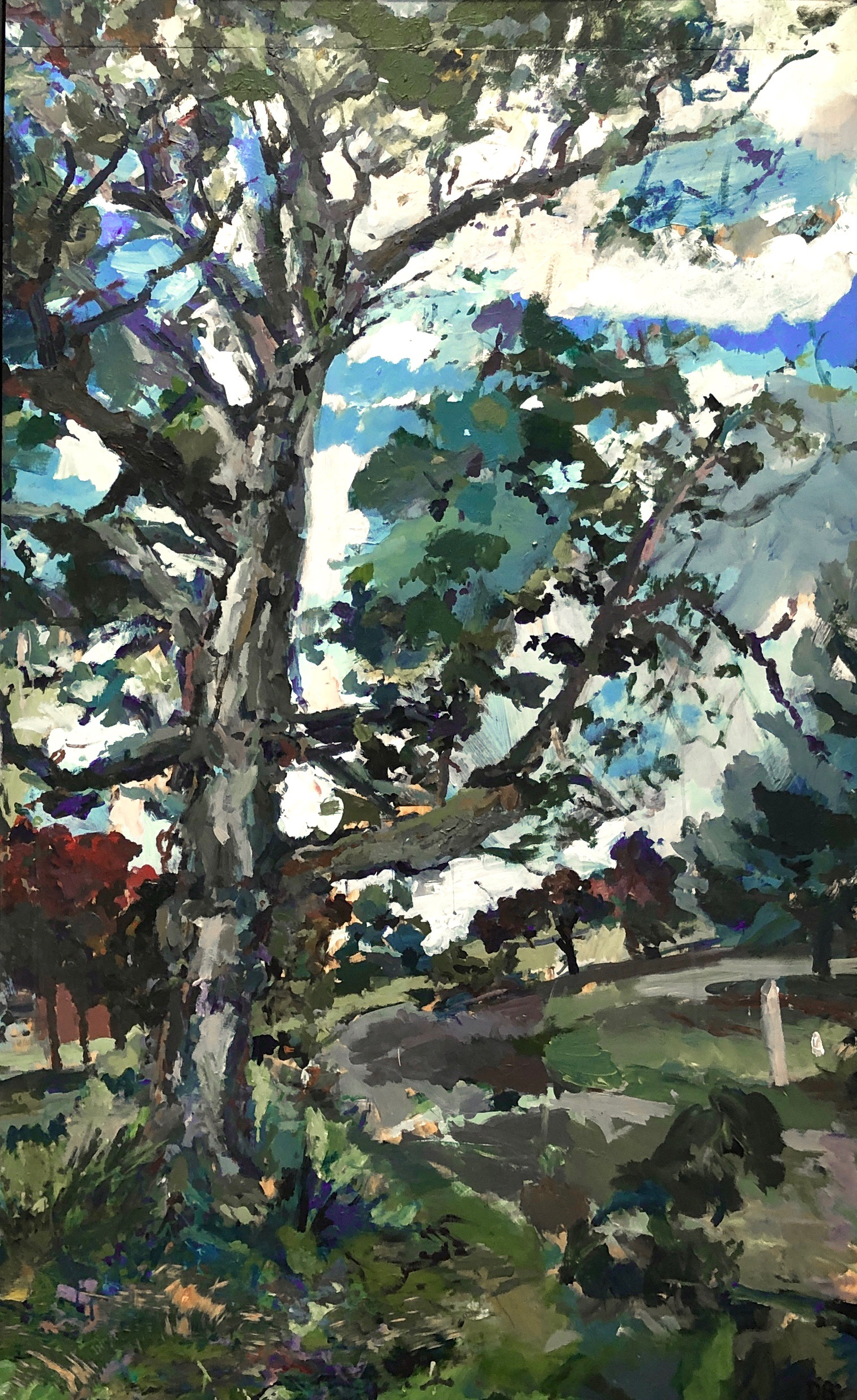 """Old Maple Acrylic on Panel 67"""" x 42"""""""