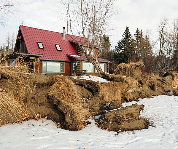 The 2018 ice heave caused extensive damage along the northwest shore.