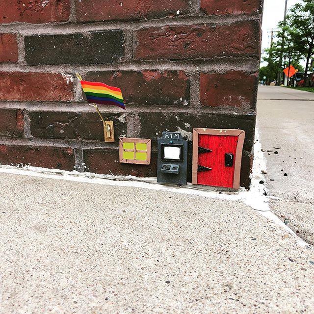 Love that my neighborhood #mousehouse is flying a pride flag this weekend! #northeastminneapolis