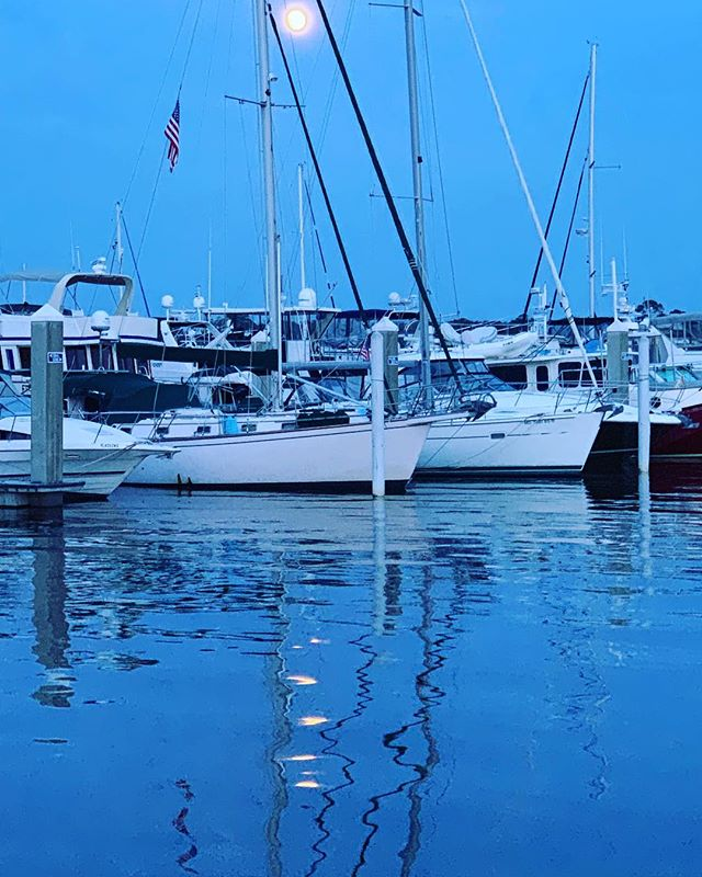 Pictures of the moon with a phone never turn out, but the moon on the water helps with the mood. #liveaboard #sailboat #tenyearplan