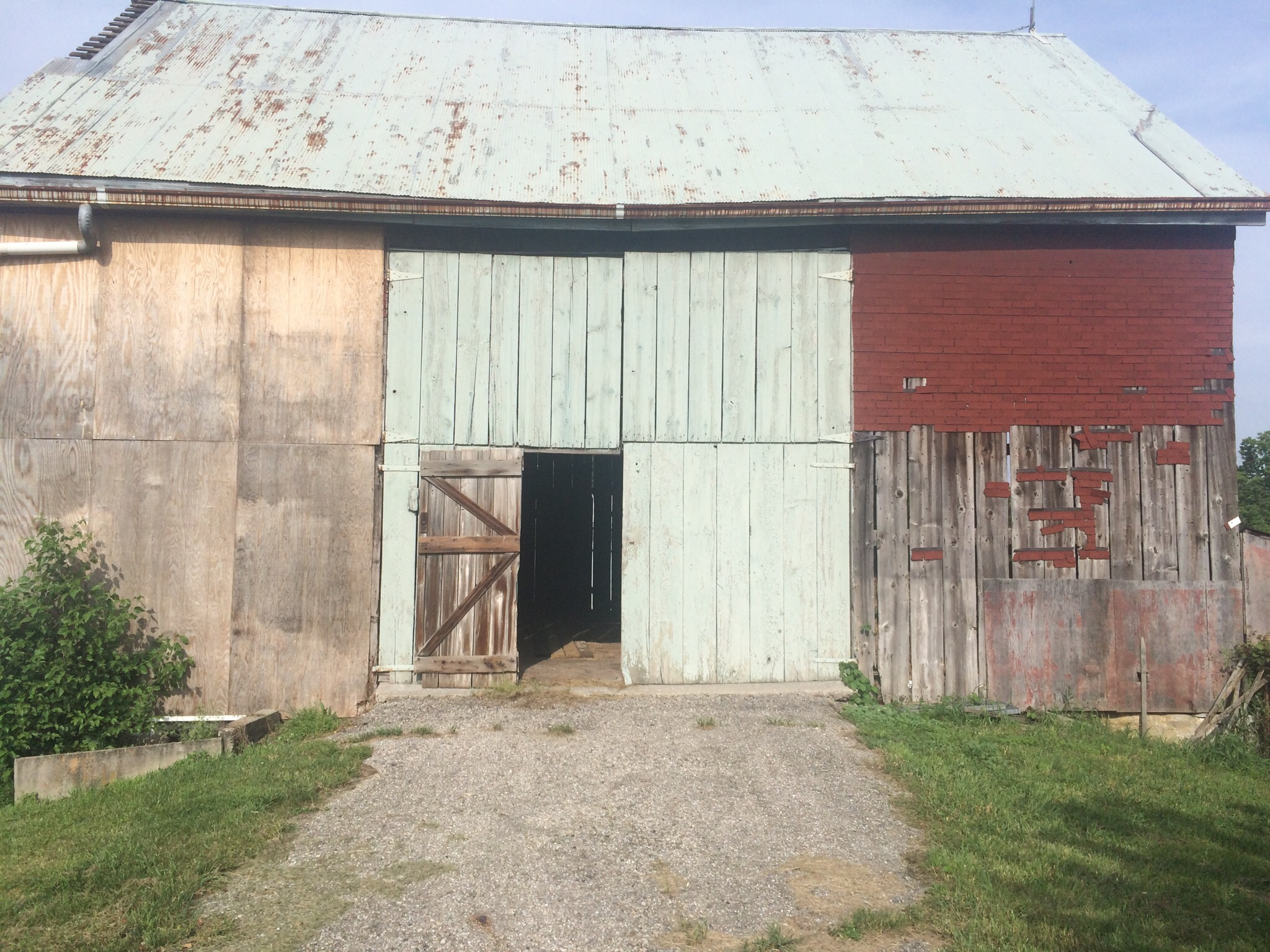 Green Township, OH- 110 year old barn, 2.5 stories, bank barn. 12″ pine siding. Currently in dismantling phase.
