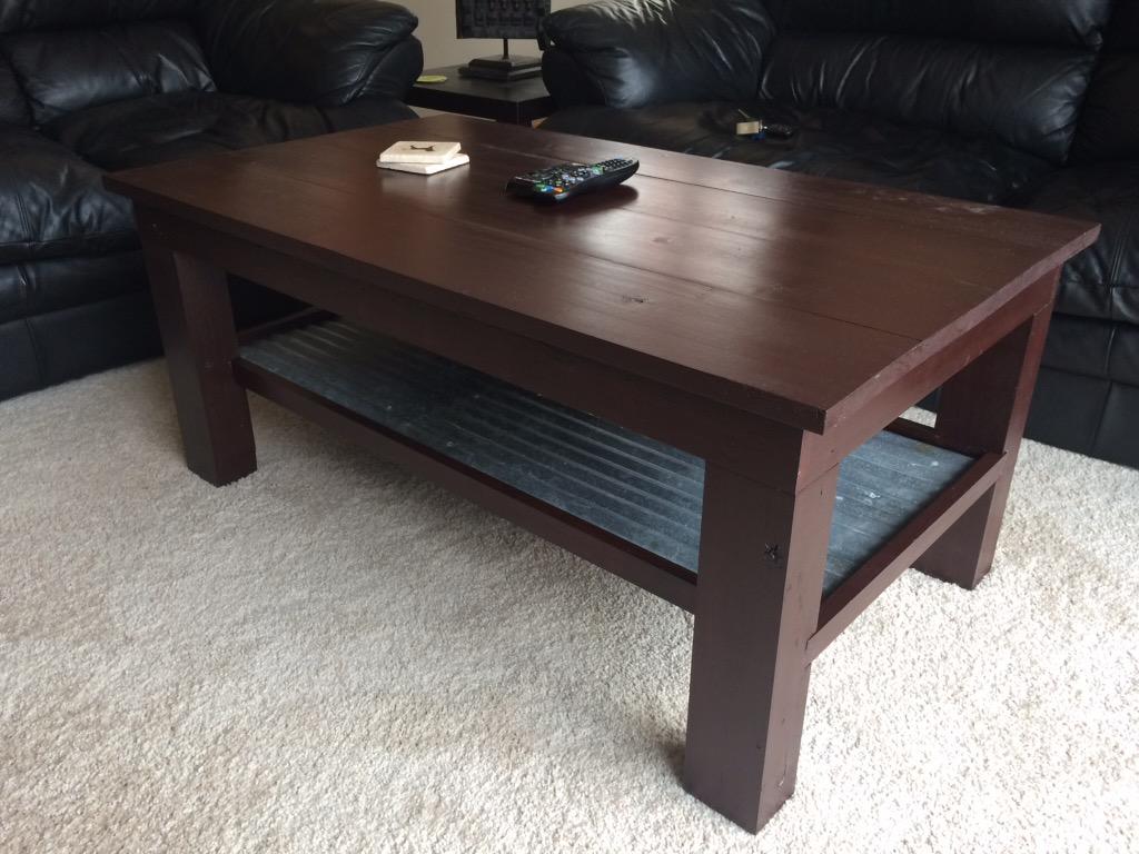 Coffee tables- wood, wood/metal, $70/ft