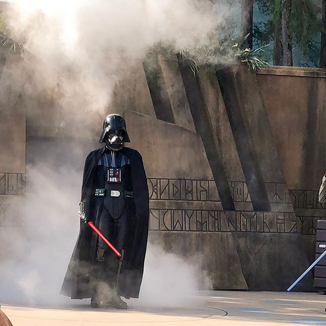 May the fourth be with you... 💫 Jedi training academy is one of my favorite experiences from Disney! It was HOT that day!  Poor Darth🔥🔥🔥 #jeditrainingacademy #hollywoodstudios #familyvacation #disneygram #disneyfamily