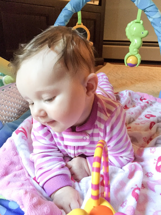 Lauren, age 4 months - This is about the time that we found out our sweet girl had multiple food allergies