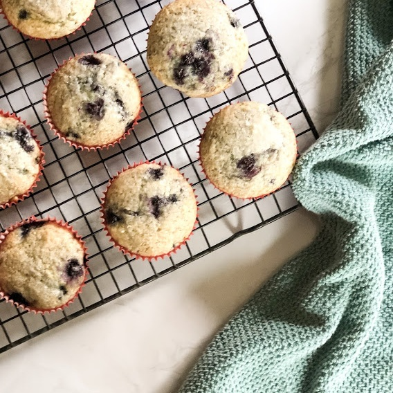 Eggless Blueberry Muffins -
