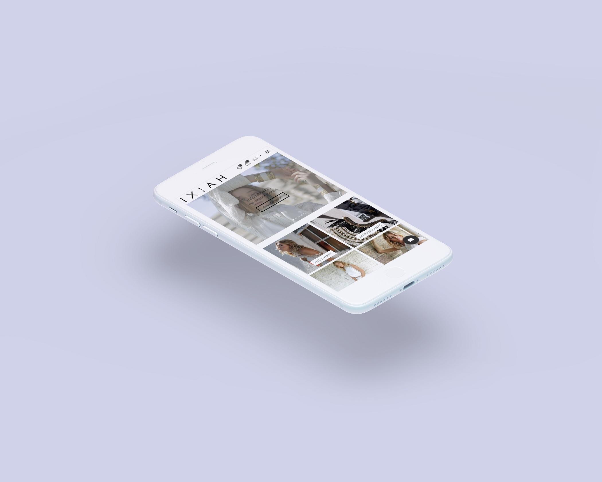 IXIAH - e-Commerce Website / Digital Marketing