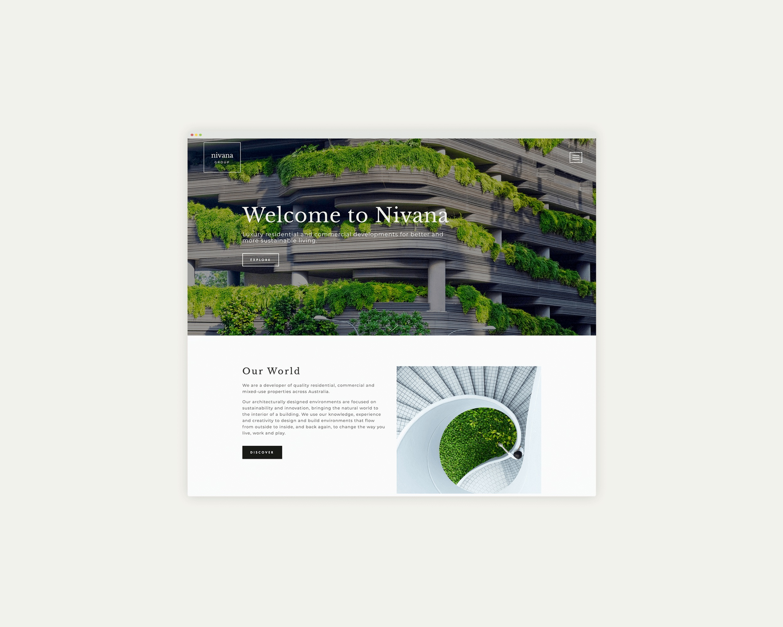Nivana Group - Responsive Website