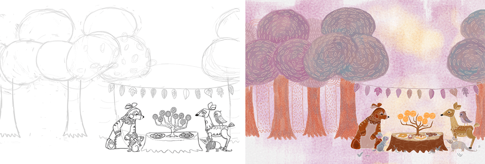 Background Illustration Progress from Love Warmth and Peace Animation by Jeca Martinez