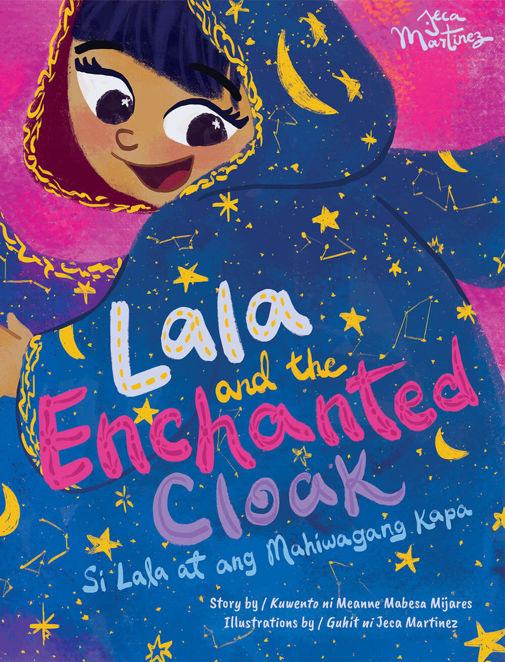 Children's Book Cover Illustration of Lala and the Enchanted Cloak for Vibal Publishing by Jeca Martinez