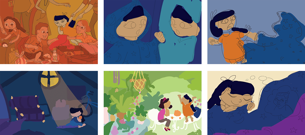 Color Composition for Lala and the Enchanted Cloak 2
